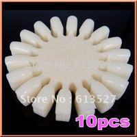 Free Shipping - 10 X Nail Art Color practice Polish uv Gel Display Wheel False TIps