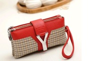JY52 Personalized New Fashion Brand Designal PU Women Modern Noble Plaid Handbag Tote Clutch bag Shoulder Bag,2012 FREE Shipping