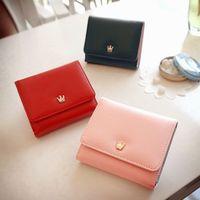 Short design wallet female 2012 color block women's tri-fold wallet card holder coin purse