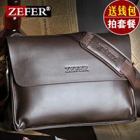 Wallet zefer man bag male shoulder bag cowhide messenger bag casual business bag