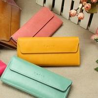 2012 women's long design wallet quality fashion vintage multi card holder wallet card holder
