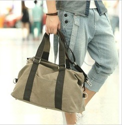 2013 year wholesale new fashion leisure durable cheap large capacity Canvas man Tote Satchel Messenger Bag Free shipping(China (Mainland))