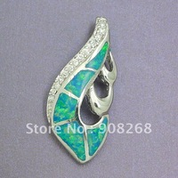 Fashion Jewelry Accessory Newest Opal Pendant Rhodium Plating White Zircon with free matching OP052