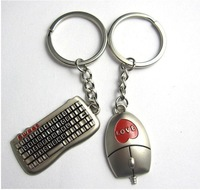 Couple Key Buckle Creative Keychain Key Pendant Key Ring Keyboard Mouse Pair