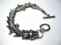 Hot Sell ! Stunning tibet silver dragon men's bracelet