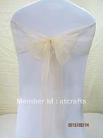 wholesale weding orgaza chair sash, 18*275 cm, 100 pieces per bag T03026