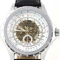 2012 Men's Wrist Watches Automatic / Hand Wind Mechanical White Dial Wholesale Price Nice Gift A487