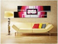 Free Shipping ,4Pieces,25*100cmx4p(10*40inchx4p),The Modern Canvas Oil Painting Wall Art ,Christmas Decoration JYJ001