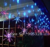 Free Holiday sale 2*0.65M LED Lights curtain string light rope lamp icicle lighting christmas wedding large christmas decoration