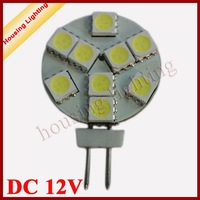 2W 9*SMD5050 G4 Round LED Spotlight, DC12V, LED Car Light LED Corn Light, 10 pcs/lot , Free Shipping