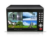 """Free Shipment 4CH Standalone DVR  H.264  D1 DVR with 7"""" LCD monitior all in one DVR  Digital Video Recorder"""