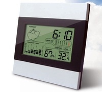 Mini Home  garden LCD Digital Weather Station Alarm clock indoor / outdoor thermometer hygrometer