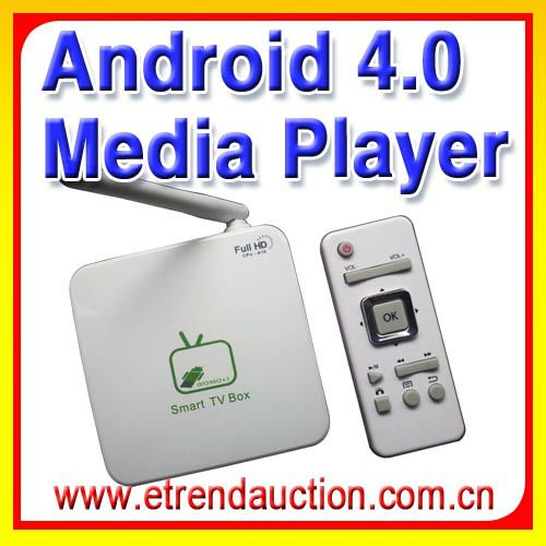 2012 best!! Fast Shipping!! Full HD media player with Android 4.0 OS(China (Mainland))