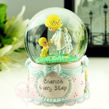 ELF House Birthday gift cartoon crystal ball music box music box practical gifts