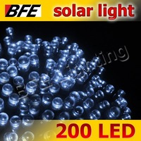 10pcs/Lot 20m 200 LED White Solar Light Fairy String Garden Decoration IP65