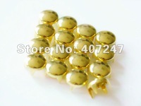 Free shiping,200pcs/lot,8mm,Golden 4 claws Round Studs Spots Punk Rock Biker DIY Spikes Bag Shoes Bracelet Clothes