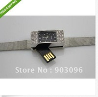 Crystal watch USB 2.0 Enough Memory Stick Flash pen Drive 4GB 8GB 16G