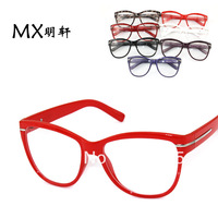 20pcs\lot-Free Shipping-Brand New Style Classic fashion glasses candy color metal slitless all-match plain glass spectacles lens