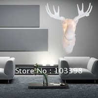 Free Shipping H70cm Deer Head modern wall lamp hotel project art decoration lamp residential lighting also ship for wholesale