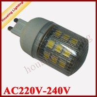 4W 24*SMD5050 G9 Round LED Bulb with Transparent Cover, AC220v-240V,  LED Car Light LED Corn Light 10 pcs/lot , Free Shipping