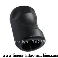 10pcs/lot black rubber hollow tattoo grips free shipping with back stem