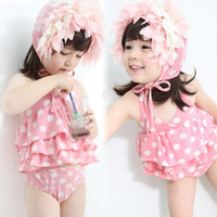 1006 child swimwear child swimwear female child swimwear split swimwear set