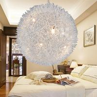 Meiqi wool burry aluminum light  wire ball pendant light bedroom lighting