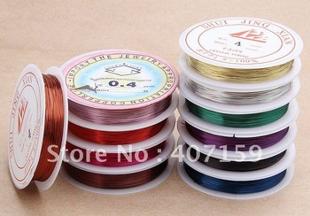 FREE SHIPPING 0.4mm Mixed Color Copper Tiger Tail Beading Wire Cord Nylon Coated Stainless Steel Wire Jewelry Finding Wholesale