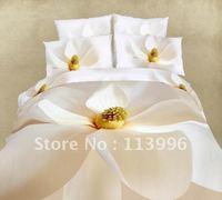 floral bedding sets painting home fashion duvet cove set 4PC queen/full cotton bed sheet quilt cover pillow cas