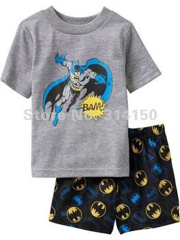 FREE SHIPPING-- 2012 NEW boys sleeping wear sets 2pcs pajamas sets baby nightwear short sleeve t-shirts+shorts cartoon 1set/lot