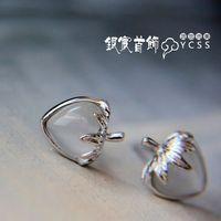 accessories - eye agate anti-allergic 925 pure silver stud earring