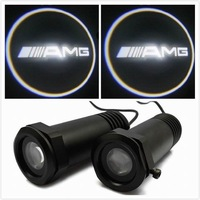 For AMG 2Pcs Cree Led 5W Welcome Light Laser 3D Ghost Shadow Logo Light