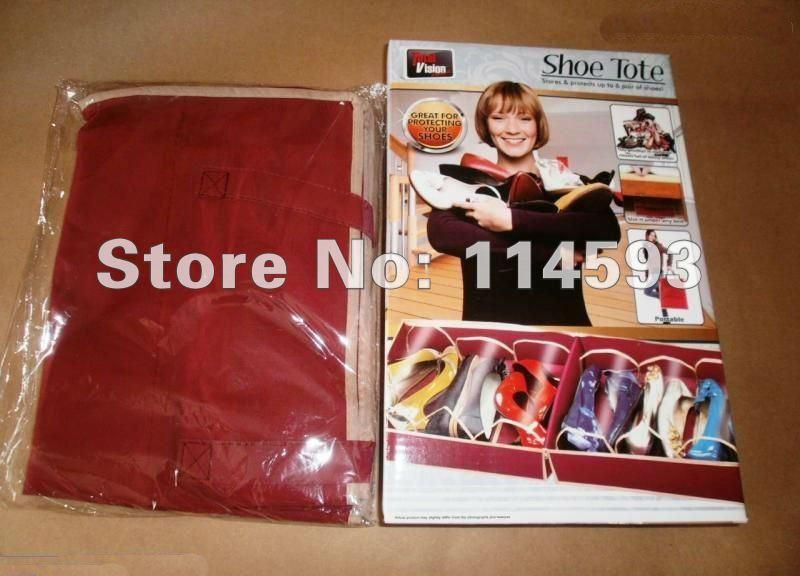 Non-woven Fabrics Travel Shoe Organizer Storage Bag 100sets/olot