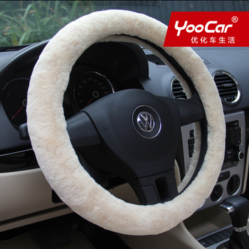 Comfort plush car steering wheel cover winter imitation wool car set car supplies quality assurance qualified