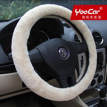 Comfort plush car steering wheel cover winter imitation wool car set car supplies quality assurance qualified