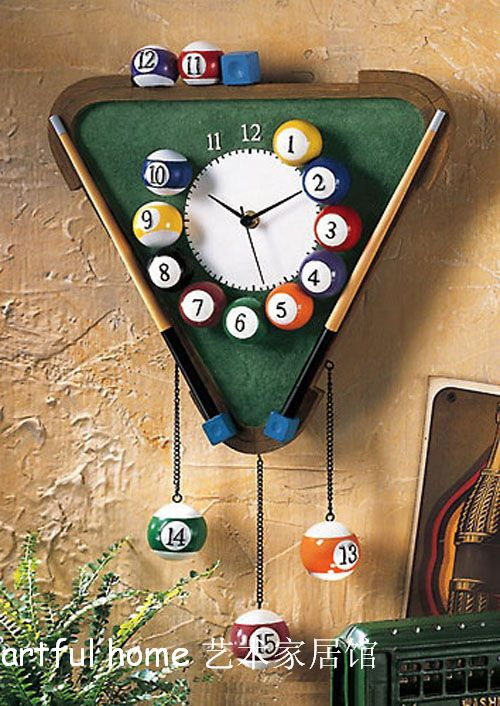 Snooker wall clock table lamp telephone personalized fashion boys gift(China (Mainland))
