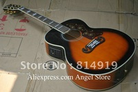 Acoustic electric Guitar SJ200 Vintage Sunburst with Fishman presys China Guitar free shipping