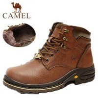 Winter trend camel male cotton-padded shoes snow boots medium-leg boots male boots high boots warm shoes plus wool Free Shipping