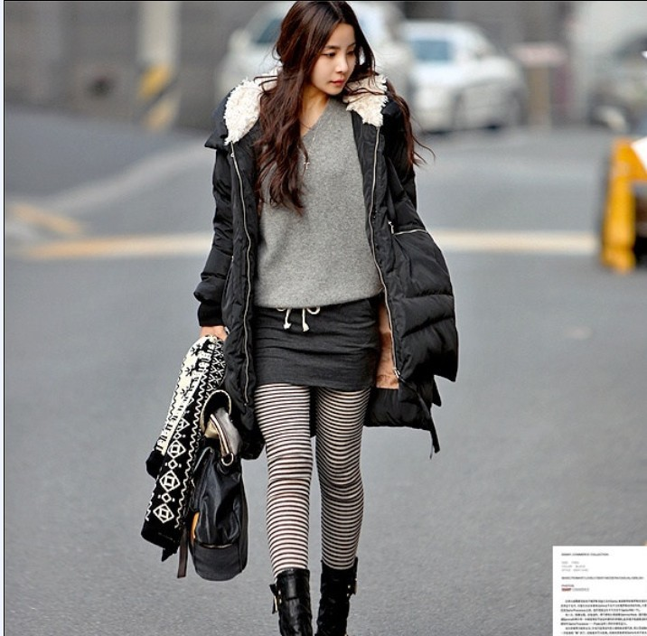 2012 winter thickening medium-long plus size casual personality tooling down coat Women women&#39;s jacket winter thick(China (Mainland))