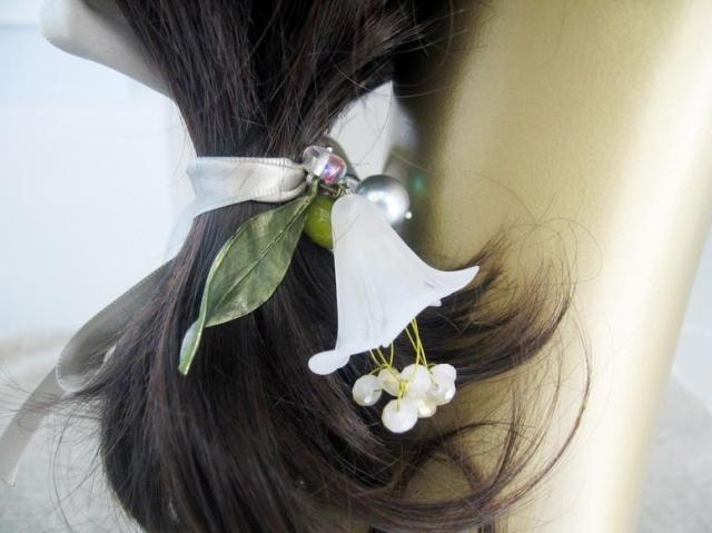 Hair accessory handmade white flower hair band bandeaus hair accessory(China (Mainland))
