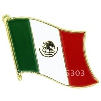 Newest Best Selling Hot Selling High Quality Mexico Flag Pins