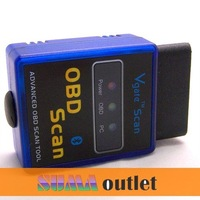 5pcs Universal Mini ELM327 Bluetooth OBD OBD2 V2.1 mini elm 327 bluetooth fit for Android Torque