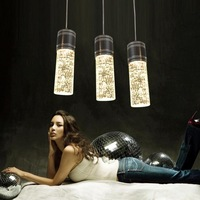 2013 new arrival  Brief modern led bubble crystal column crystal dining room pendant light l512  free shipping