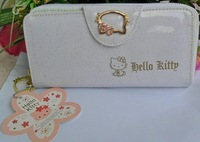 Hello kitty long design glossy wallet kitty women's wallet