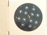 10PCS Diameter 18CM High Power LED Aluminum Base Plate 12*1W DIY New Black plate