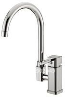 Bathroom Vessel Sink Faucets Brass Zinc Alloy Handle Ceramic Spool Kitchen Faucet Perfect Hose Sink Vanity KF-6045