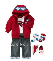 Комплект одежды для девочек summer children clothing formal summer 2012 baby clothing boys tracksuits shortskids Jump suit, climb clothes