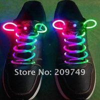 200pairs/lot Hot 12 colors Classic Fiber Optic LED Flashing Shoelaces Neon Led strong light shoe laces Christmas Free shipping