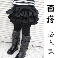 2013 new fashion arrival  autumn & winter Child woolen layered dress children princess dress free shipping