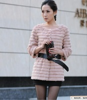 FREE SHIPPING 2012 faux fur rabbit fur autumn and winter medium-long outerwear